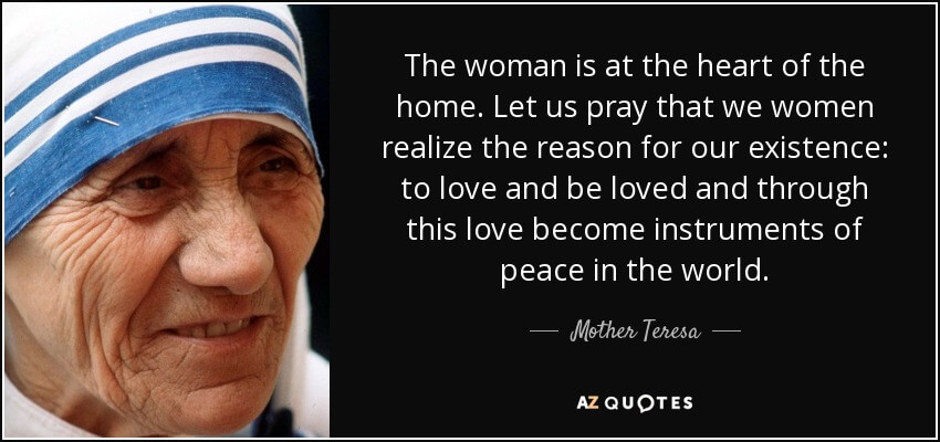 Mother theresa image with quotation